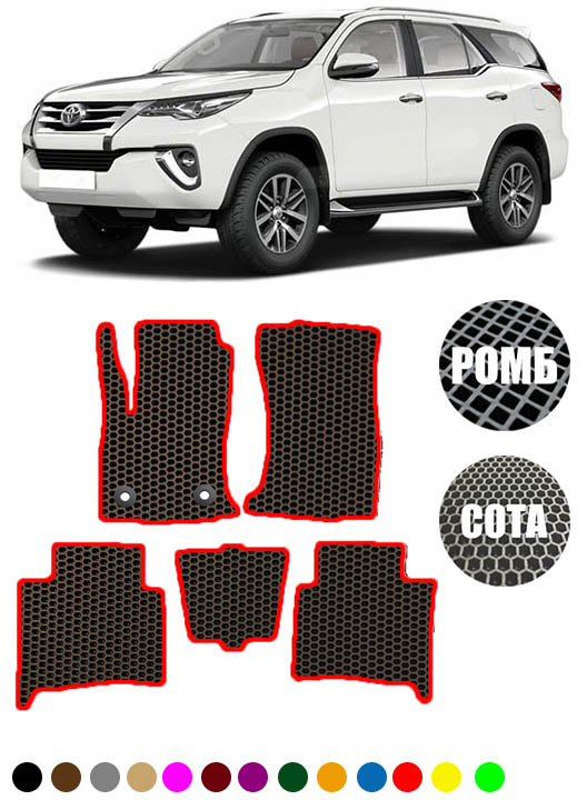 Toyota Fortuner II 5 мест